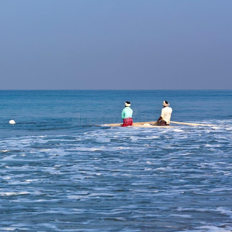 Fishermans con le reti immagine stock libera da diritti