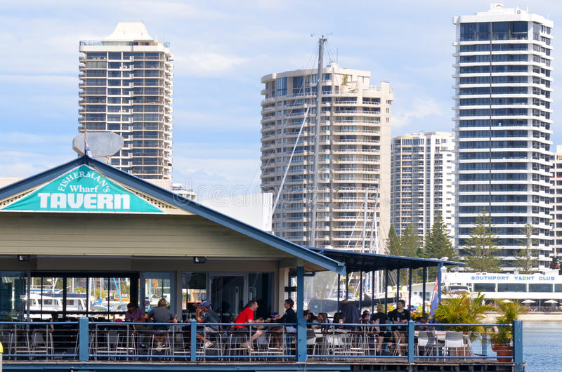 Fishermans hamnplatskrog Gold Coast Queensland Australien royaltyfri fotografi