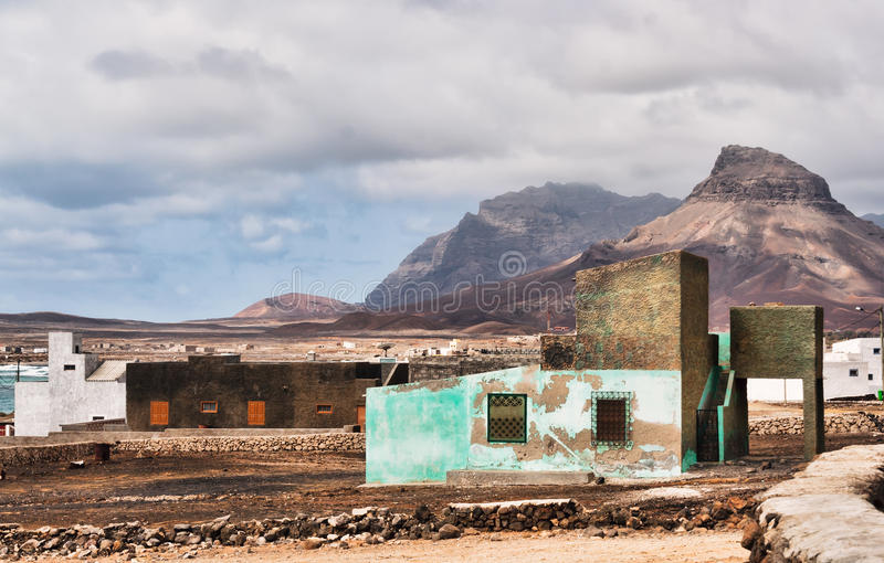 Fishermans hut in Cape Verde royalty free stock photography