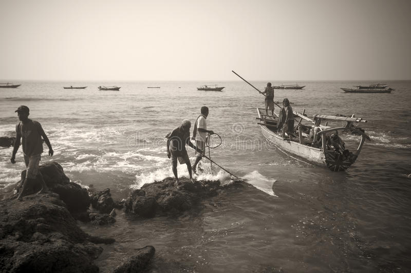 Fishermans (Lamalera, Indonesien) arkivbilder