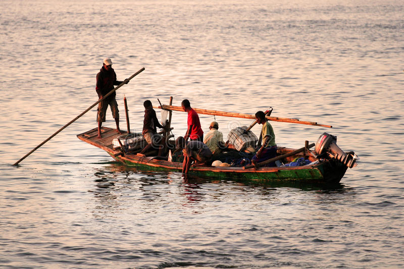 Fishermans (Lamalera, Indonesien) royaltyfria foton