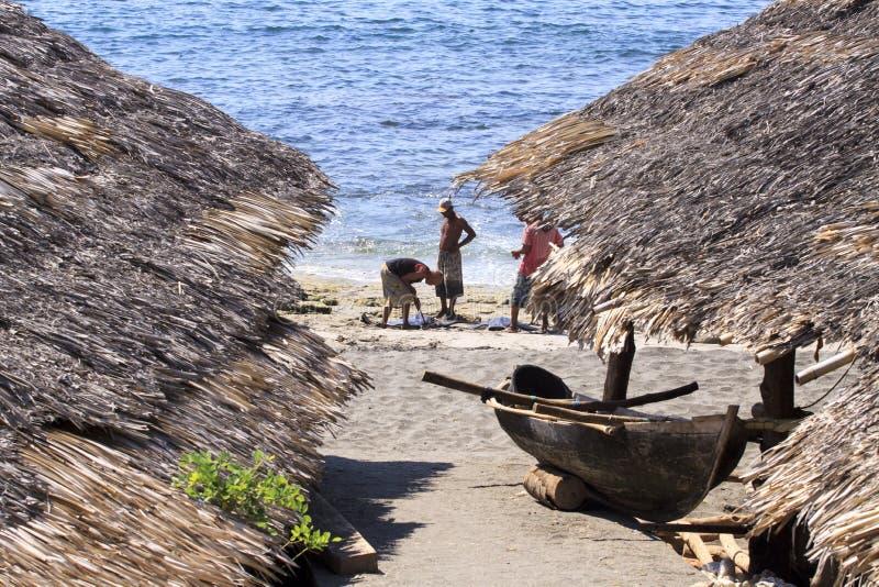 Fishermans (Lamalera, l'Indonesia) immagine stock libera da diritti