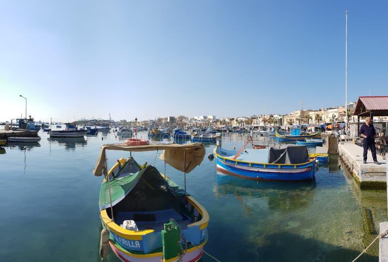 Fishermans village. Fishermans, malta, fishmarket, bluewater stock photography