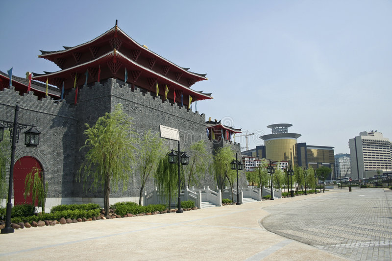Fishermans wharf architecture macau royalty free stock images
