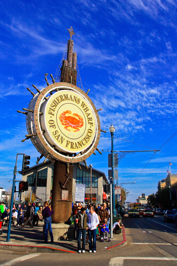 Fishermans Wharf in San Francisco royalty free stock image