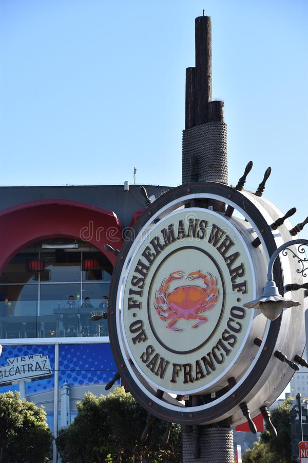 Fishermans Wharf in San Francisco, California stock images
