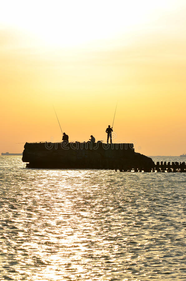 Download Fishermen stock image. Image of male, morning, pond, activity - 26654787