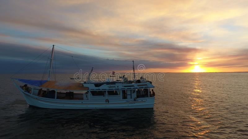 Fishermen Barco stock photo