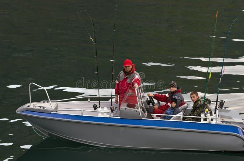 Download Fishermen in boat stock image. Image of poles, pond, bonding - 10042453