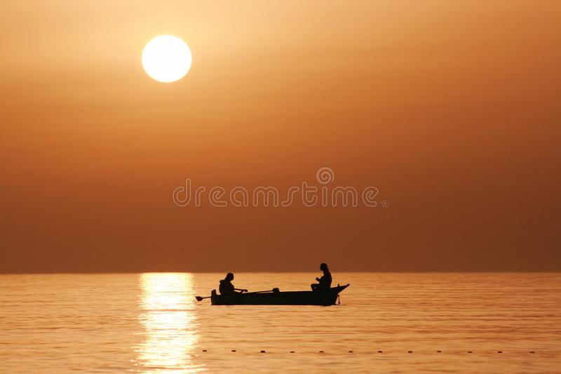 Download Fishing At Sunset stock photo. Image of reflection, picturesque - 21511470