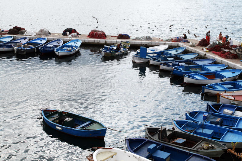Download Fishermen boats editorial photography. Image of port - 28609332