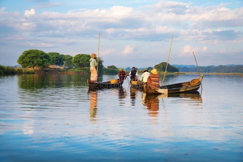 Fishermen Catch Fish Editorial Photo