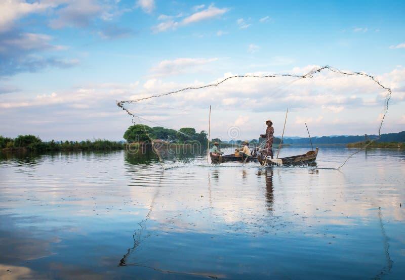 Fishermen Catch Fish Editorial Photography