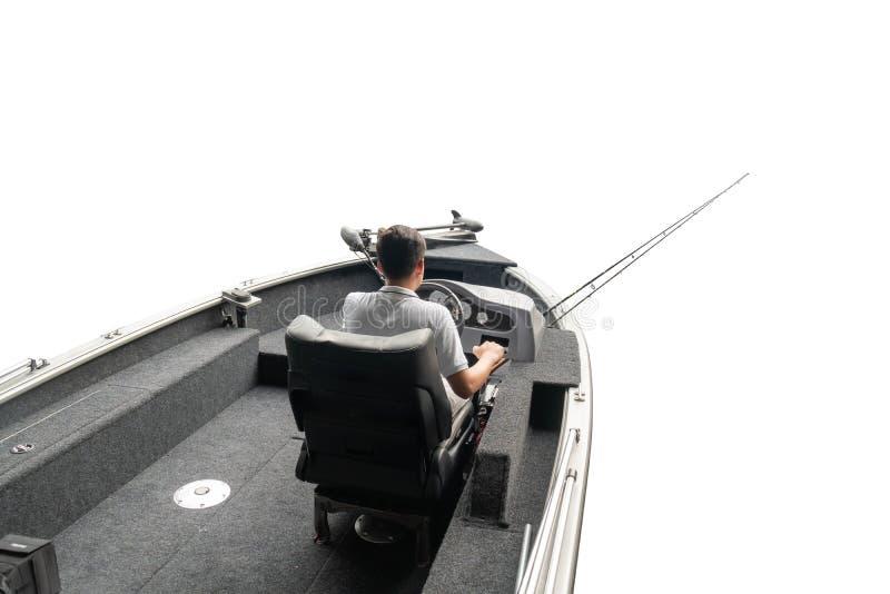 Fishing boat and fisherman,White background ,clipingpath stock photo