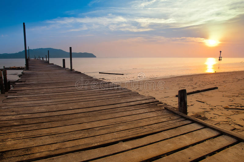 Download A Fishermen Jetty With Sunset Stock Photo - Image: 20899534