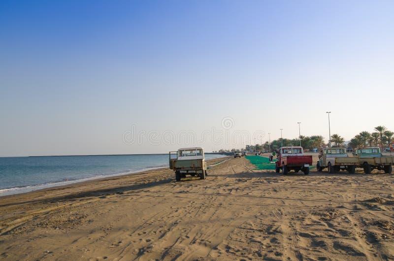 Fishermen in Kalba,Fujairah royalty free stock photos