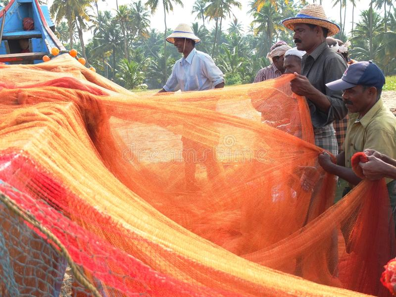 Download Fishermen, Marari Beach, Kerala India Editorial Photo - Image: 26991636