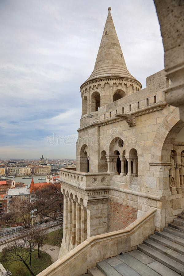 Fishermen`s Bastion in Budapest. royalty free stock images