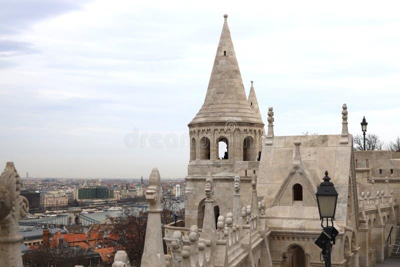 Fishermen`s Bastion in Budapest. royalty free stock image