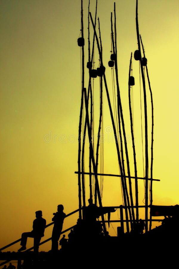 Download Fishermen Silhouettes Royalty Free Stock Photos - Image: 11948278
