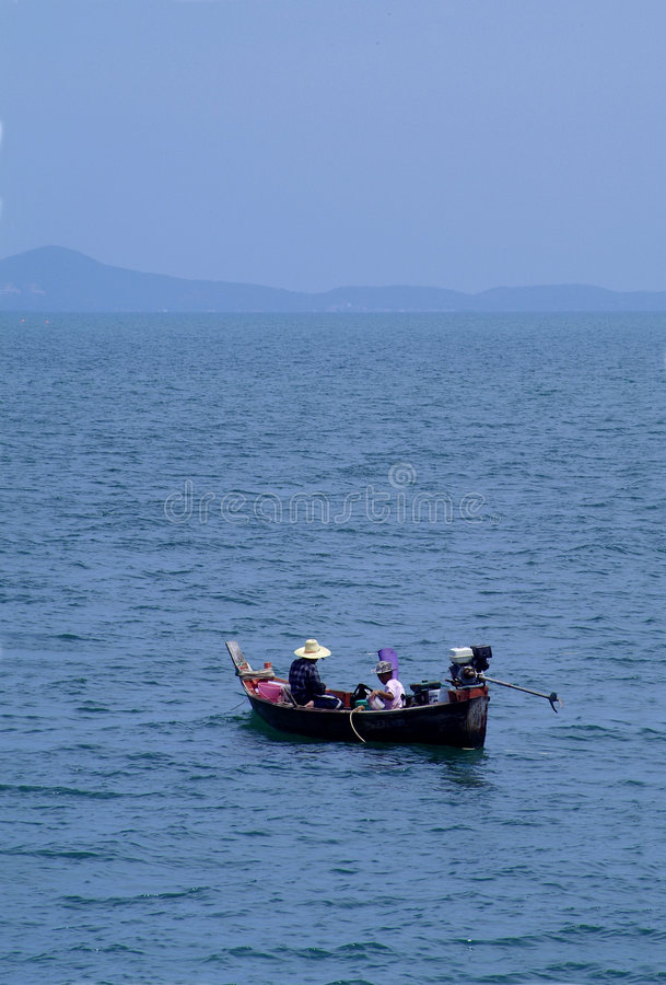 Fishermen in Thailand stock photos
