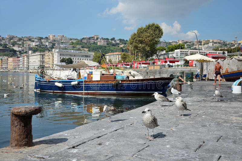 Download Fisherrmen de Nápoles foto de archivo editorial. Imagen de fresco - 44852033
