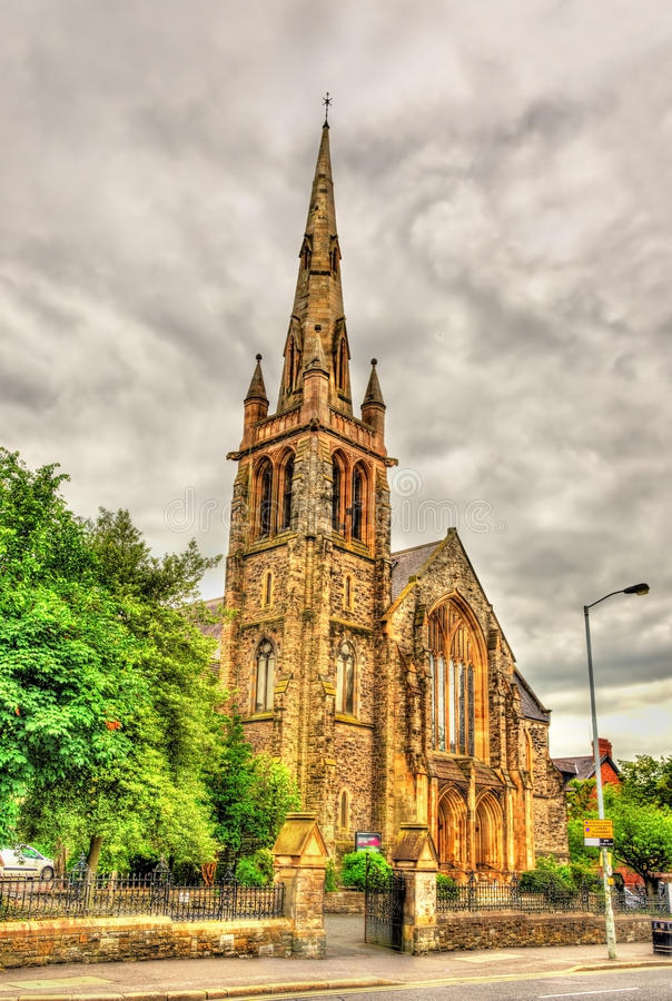 Fisherwick presbyterianska kyrkan i Belfast arkivbilder