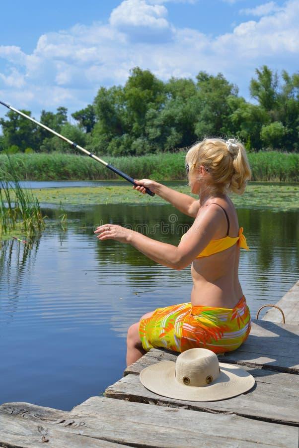 Fisherwoman stock images