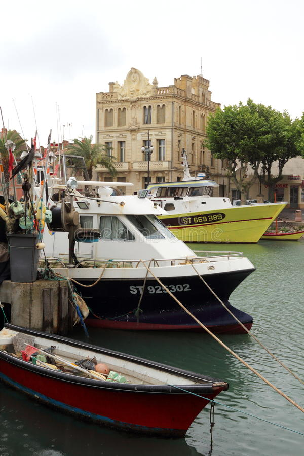 Fishery boats Le Grau-du-Roi harbour, Camargue, France royalty free stock photo
