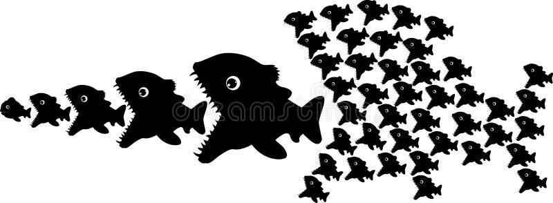 Fishes royalty free illustration