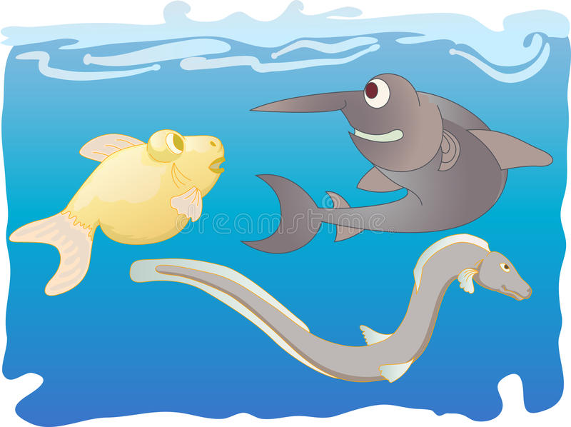 Download Fishes 2 stock vector. Illustration of funny, doodle - 24231410
