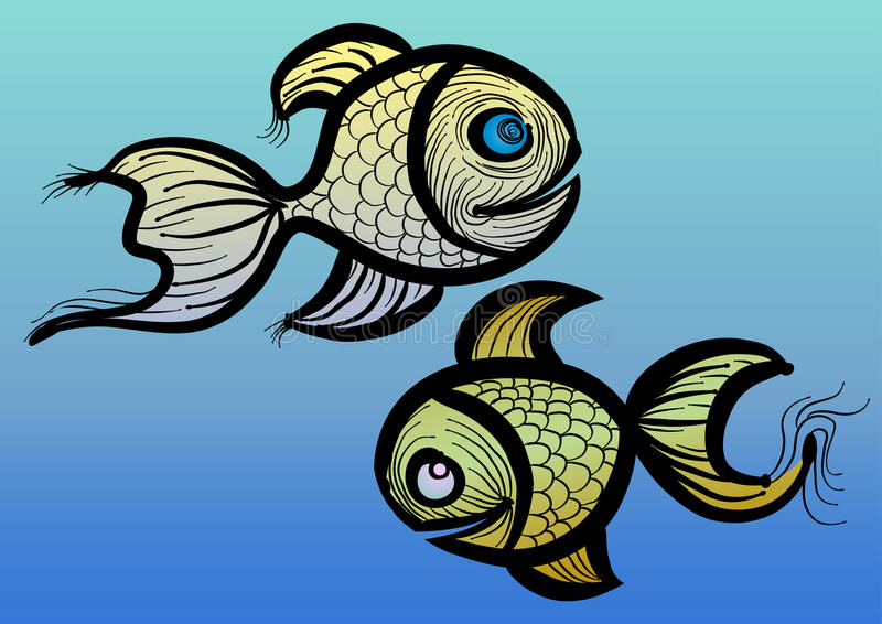 Download Fishes stock vector. Illustration of fishing, line, cute - 24231388