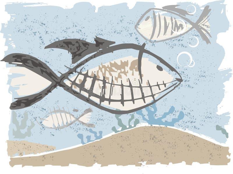 Download Fishes stock vector. Illustration of sand, fish, aquatic - 676606
