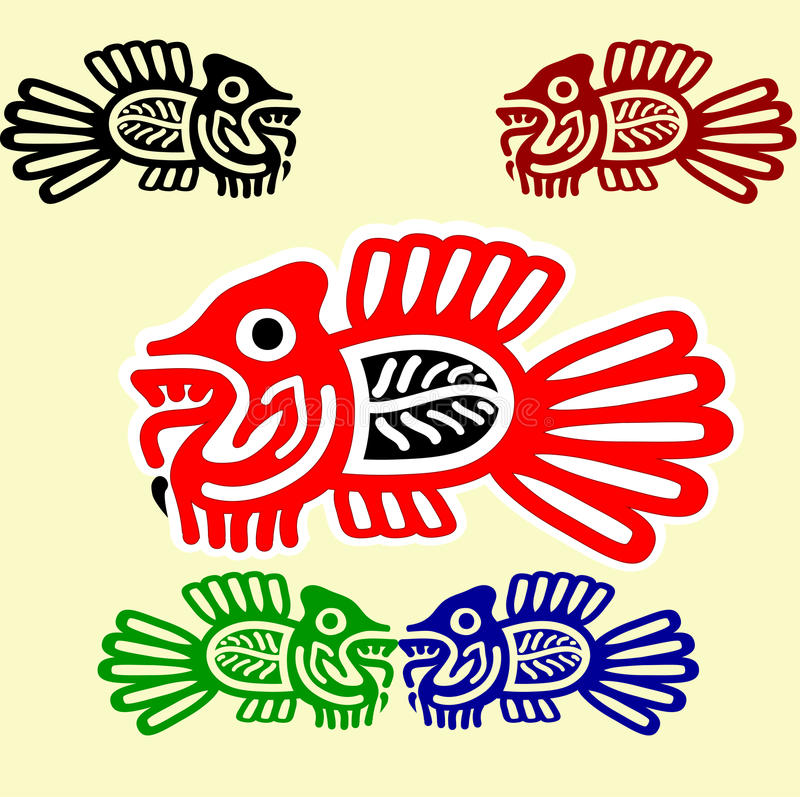 Download Fishes In  American Indians' Style Stock Vector - Image: 15898730