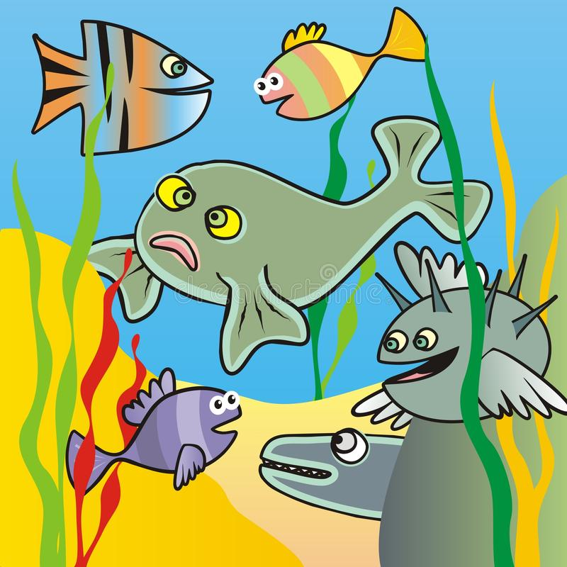 Download Fishes stock illustration. Illustration of grass, humor - 32059408