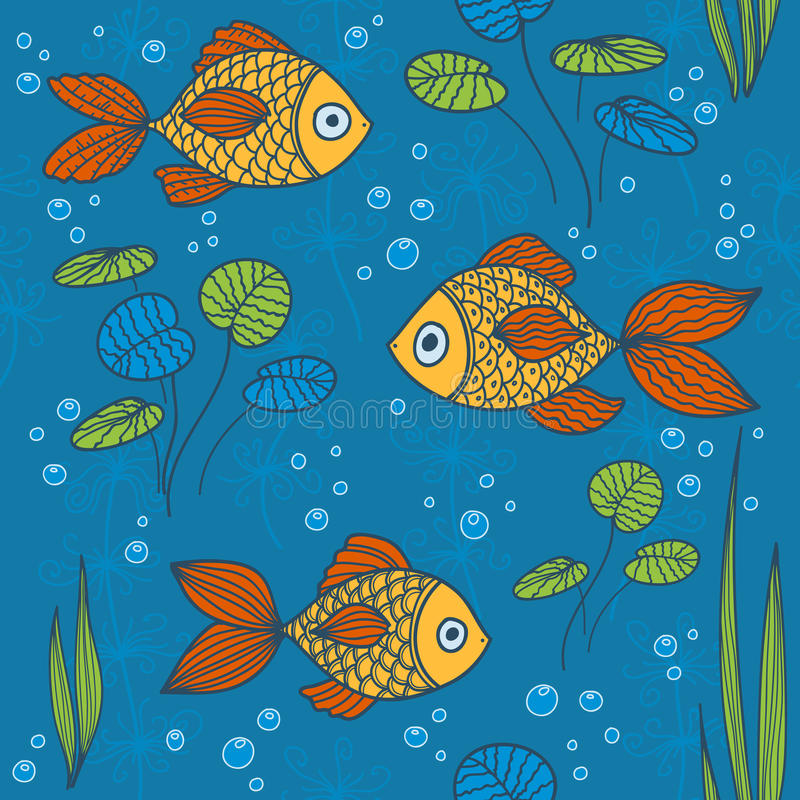 Download Fishes seamless pattern. stock vector. Image of beauty - 26416404
