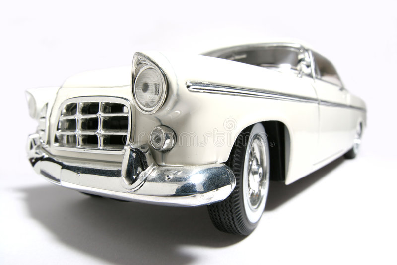 Fisheye 1956 del coche del juguete de la escala del metal de Chrysler 300B fotos de archivo libres de regalías