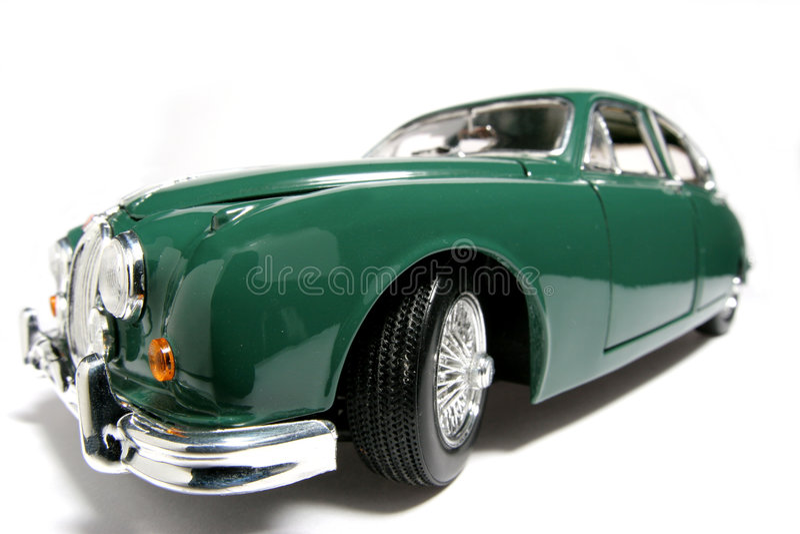 Fisheye 1959 dell'automobile del giocattolo della scala del metallo del contrassegno 2 del giaguaro #2 fotografia stock