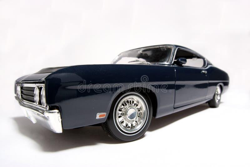 Fisheye 1969 del coche del juguete de la escala del metal de Ford Torino Talladega imagen de archivo libre de regalías