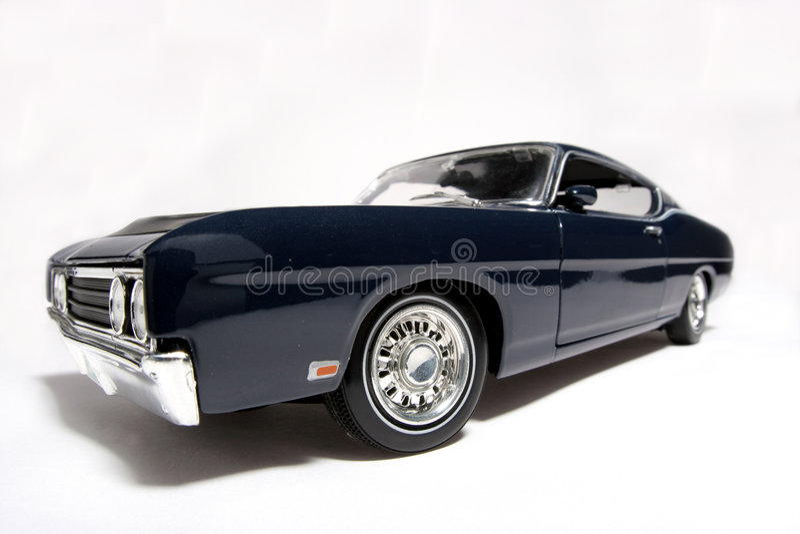 fisheye brodu samochodów 1969 metalowy skali Torino talladega zabawek obraz royalty free