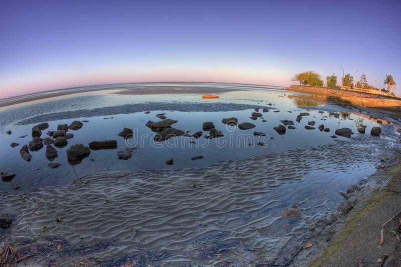 Fisheye de Sandgate, Queensland, Austrália foto de stock