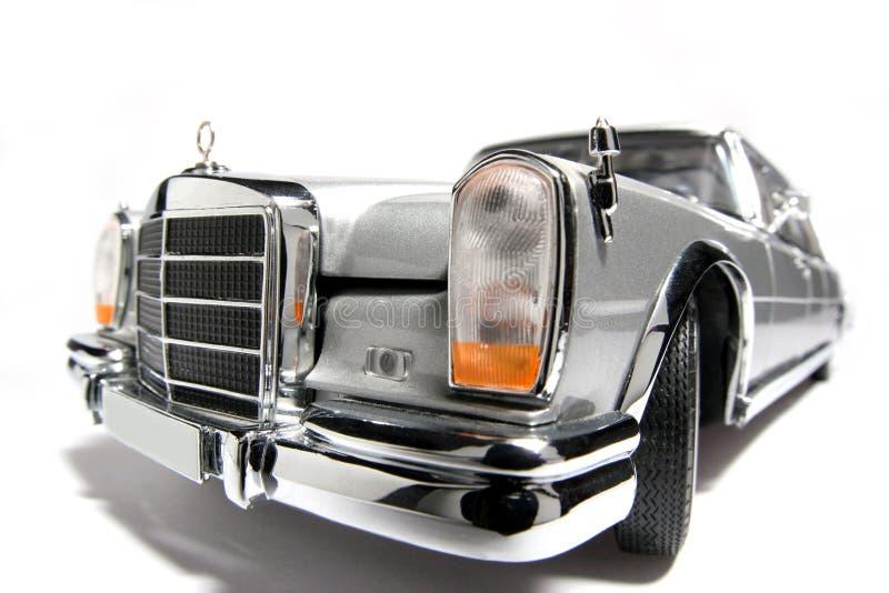 Fisheye dell'automobile del giocattolo della scala del metallo del benz 600 di Mercedes fotografia stock