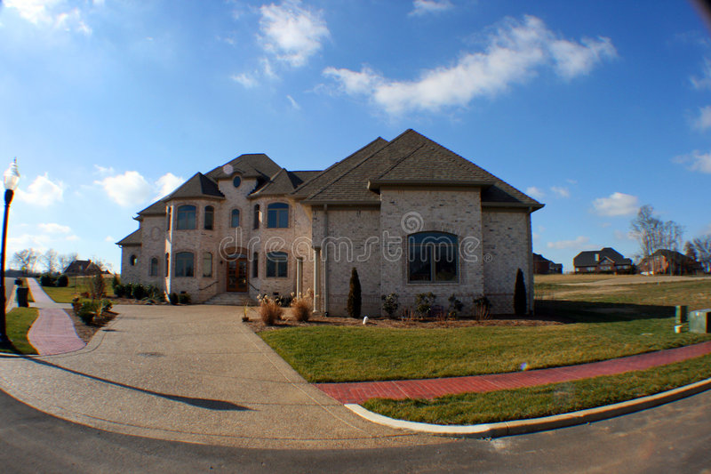 Fisheye Dream Home Royalty Free Stock Images