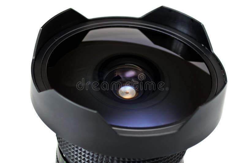 Fisheye Objektiv lizenzfreie stockbilder