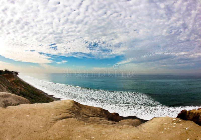 Fisheye Ozean stockbilder