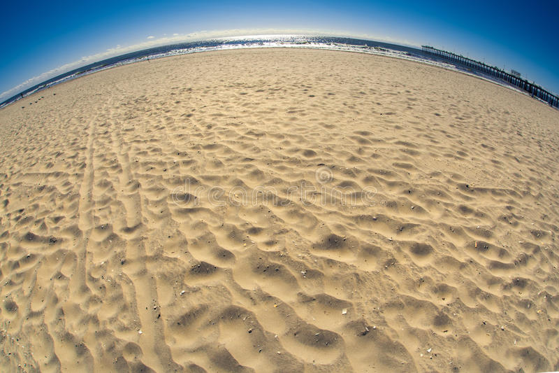 Fisheye plaża zdjęcie stock