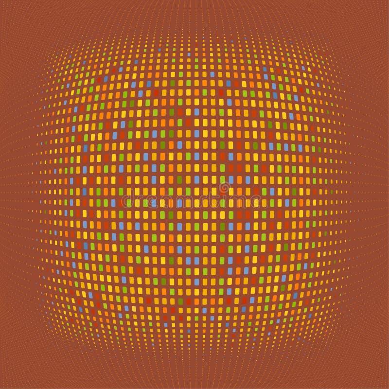 Fisheye vektorhintergrund stock abbildung