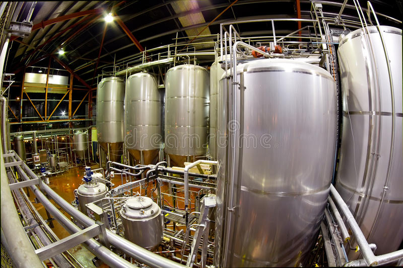 Download Fisheye view of a Brewery stock photo. Image of steel - 11796454