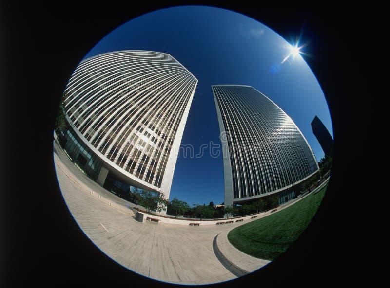 Download Fisheye View Of Century City, Los Angeles, CA Stock Photo - Image: 23148814