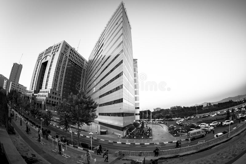 Fisheye View of City Hall stock photo